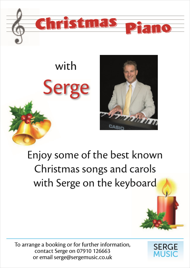 Serge Music, Christmas events pianist